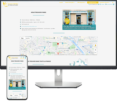 Site e-commerce Piece PC portable (groupe Atelier du portable)